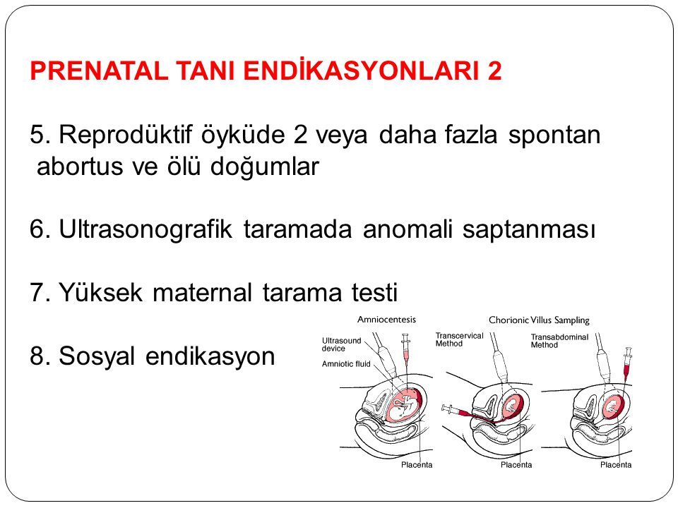 PRENATAL TANI ENDİKASYONLARI 2