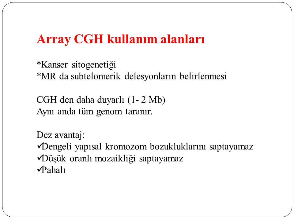 Array CGH kullanım alanları