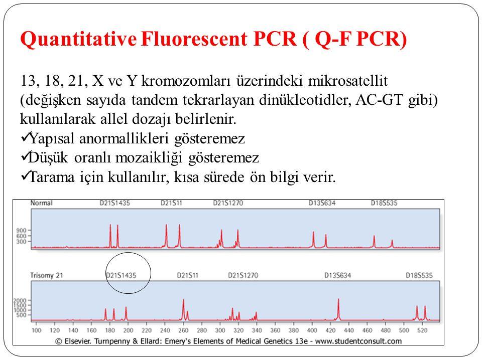 Quantitative Fluorescent PCR ( Q-F PCR)