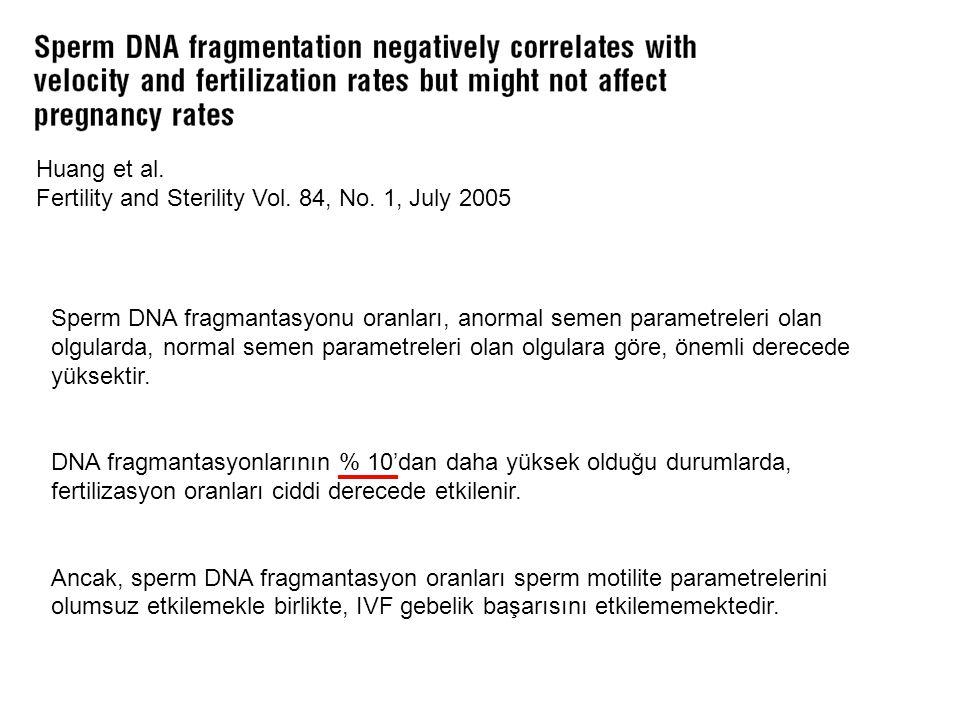 Huang et al. Fertility and Sterility Vol. 84, No. 1, July 2005.