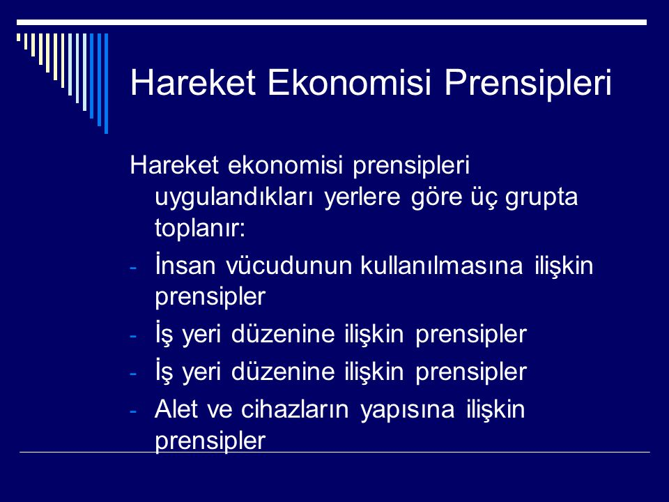 Hareket Ekonomisi Prensipleri