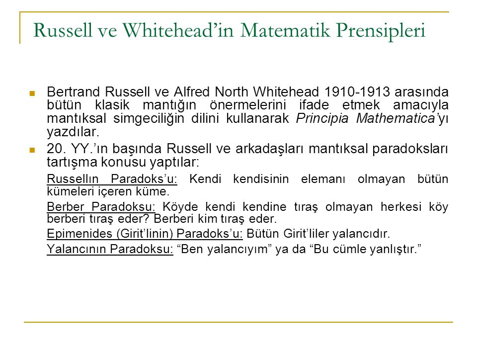 Russell ve Whitehead'in Matematik Prensipleri