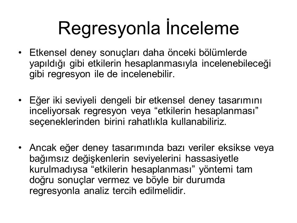 Regresyonla İnceleme