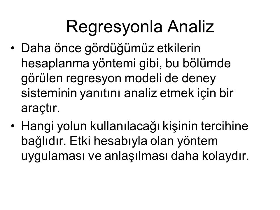 Regresyonla Analiz