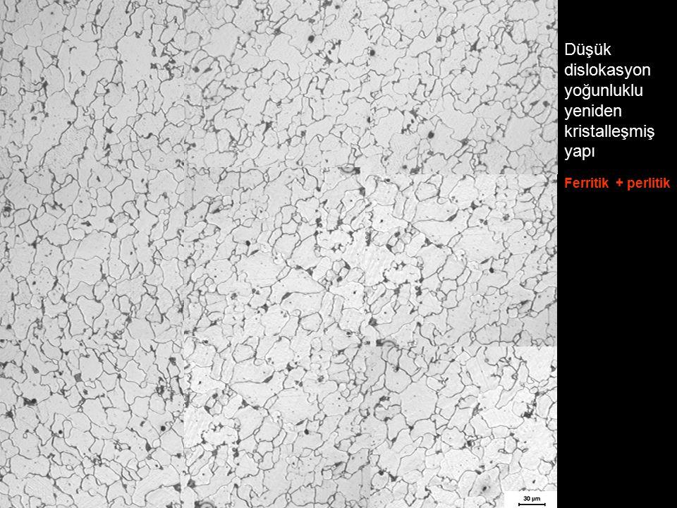 Düşük dislokasyon yoğunluklu yeniden kristalleşmiş yapı