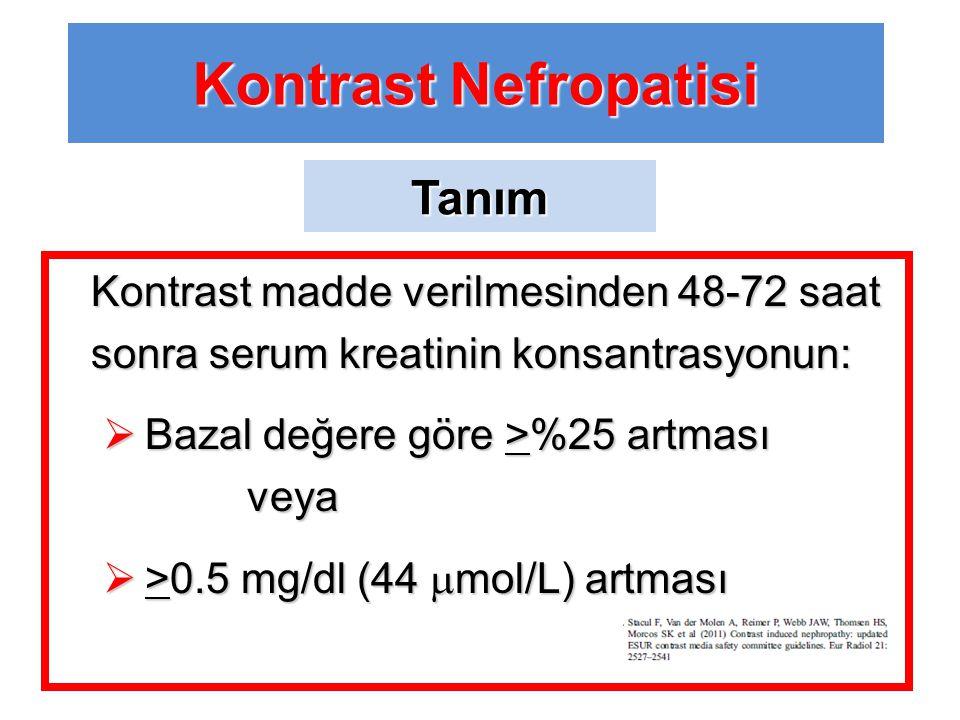 Kontrast Nefropatisi Tanım