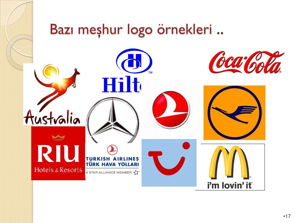 Bazı meşhur logo örnekleri ..