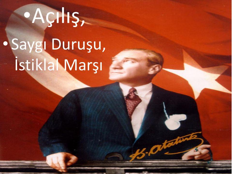 Saygı Duruşu, İstiklal Marşı
