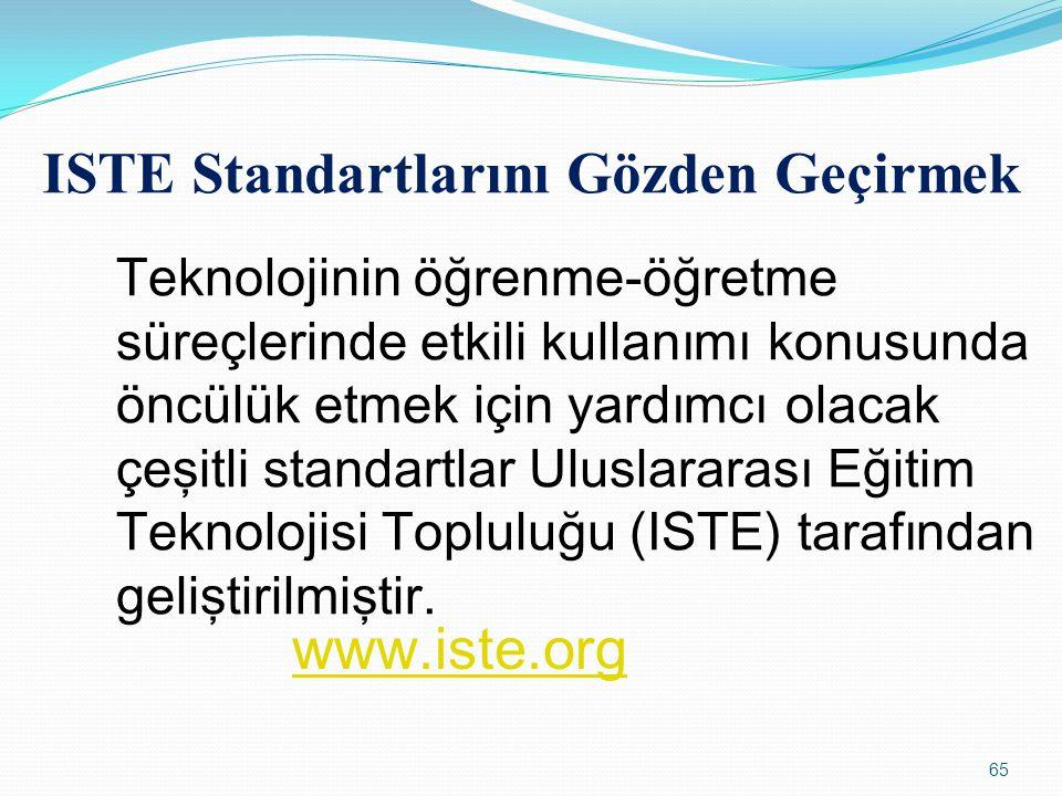 ISTE Standartlarını Gözden Geçirmek