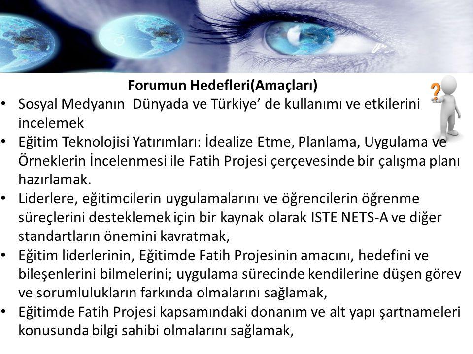 Forumun Hedefleri(Amaçları)