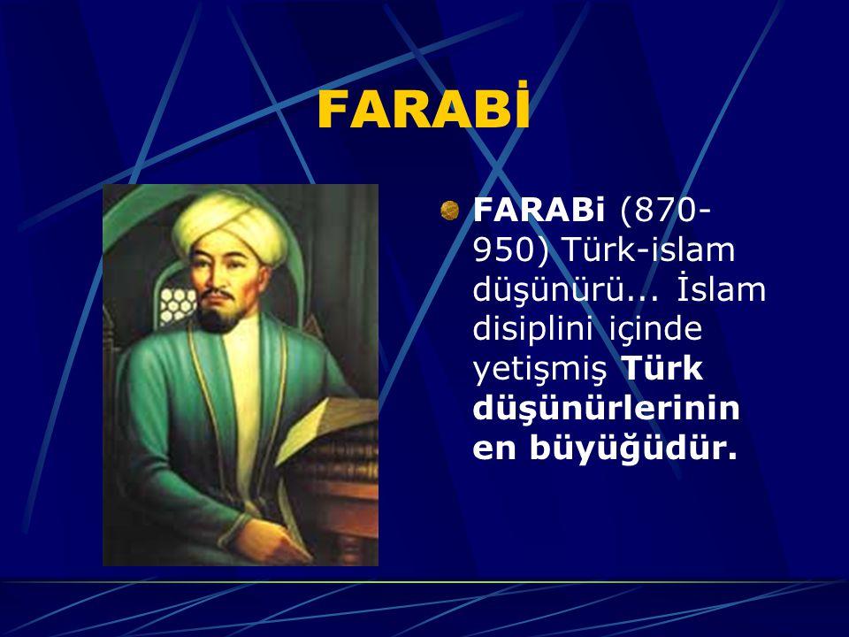 FARABİ FARABi (870-950) Türk-islam düşünürü...