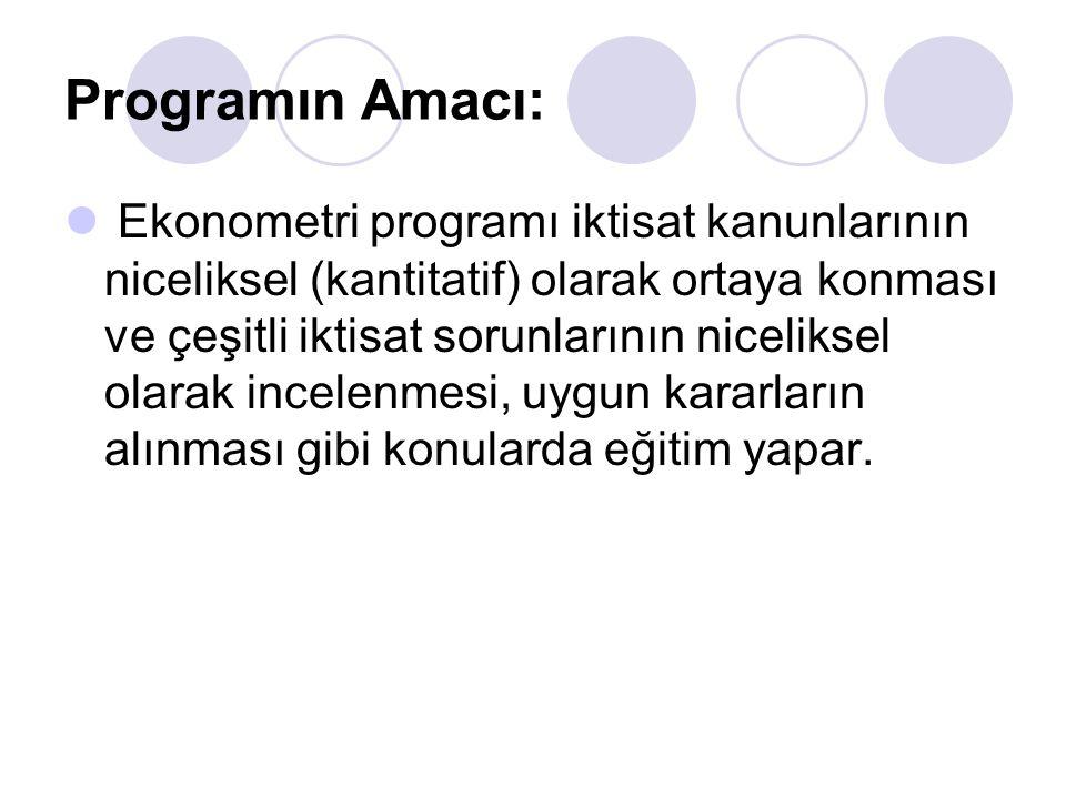 Programın Amacı: