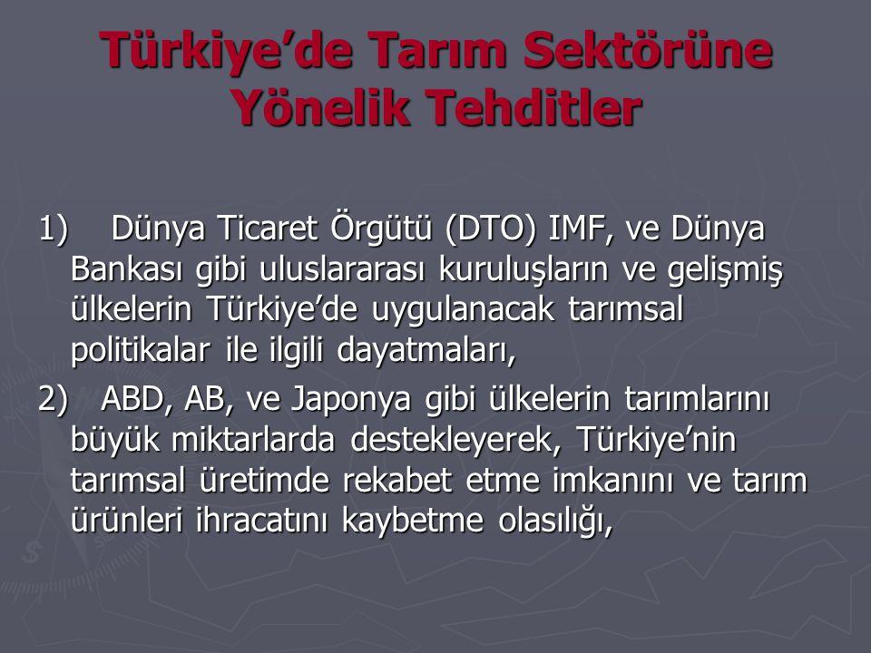 Türkiye'de Tarım Sektörüne Yönelik Tehditler