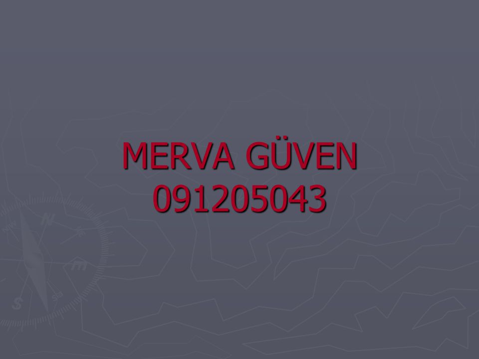 MERVA GÜVEN 091205043