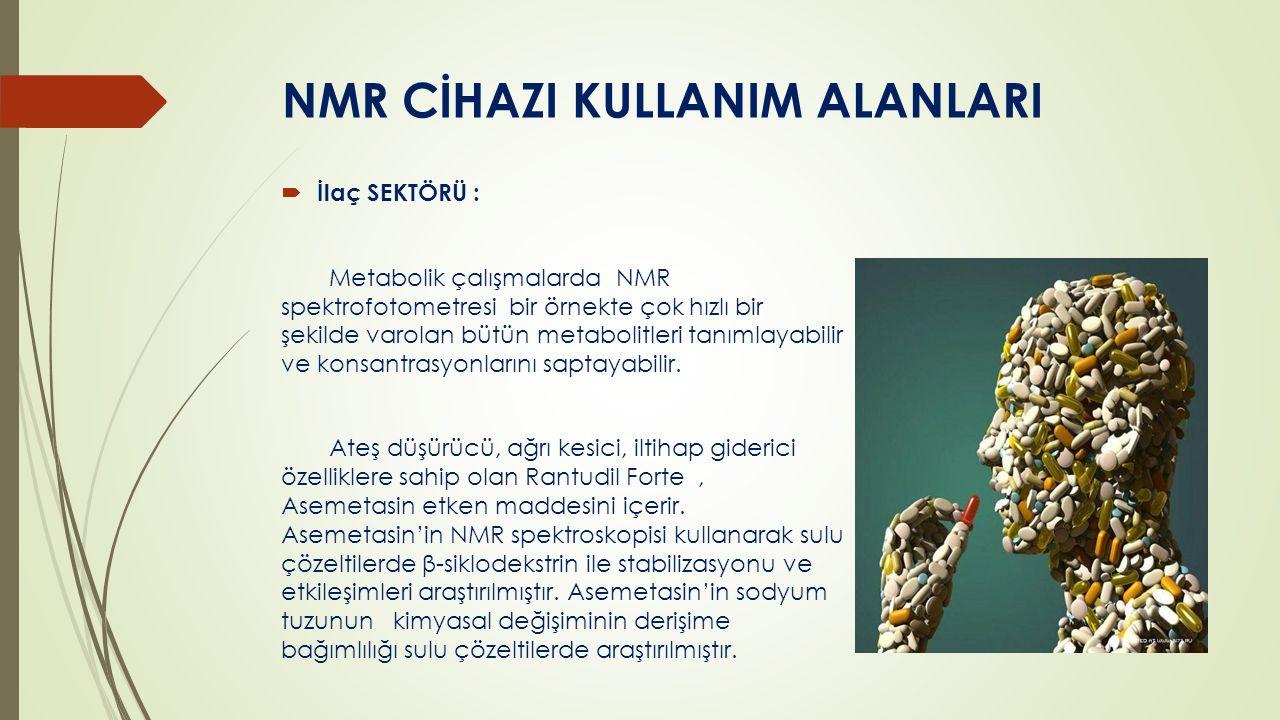 NMR CİHAZI KULLANIM ALANLARI