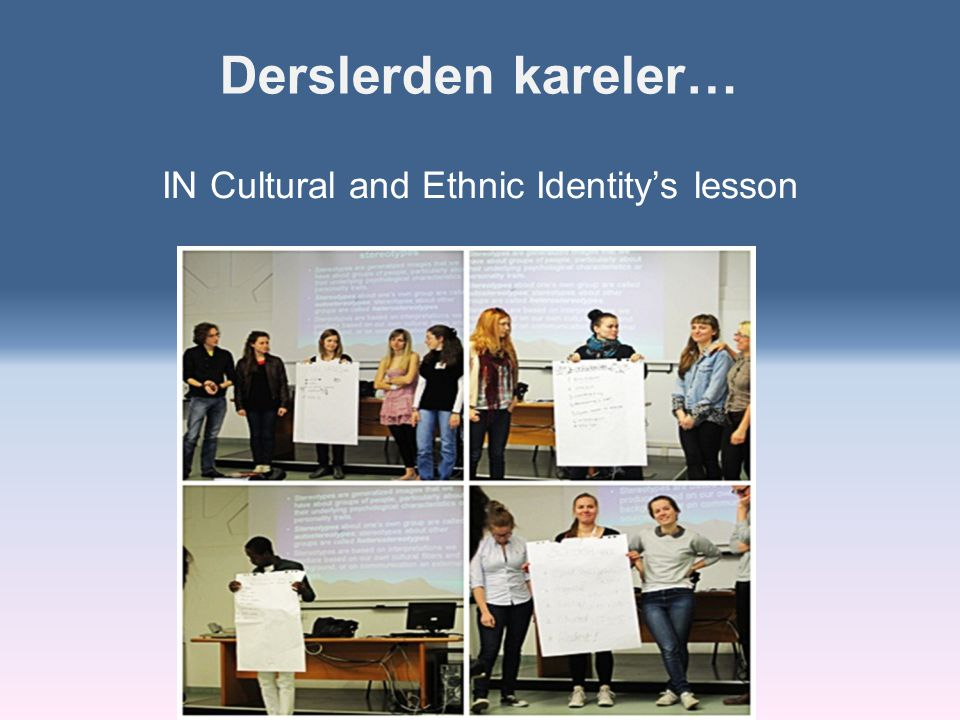 IN Cultural and Ethnic Identity's lesson