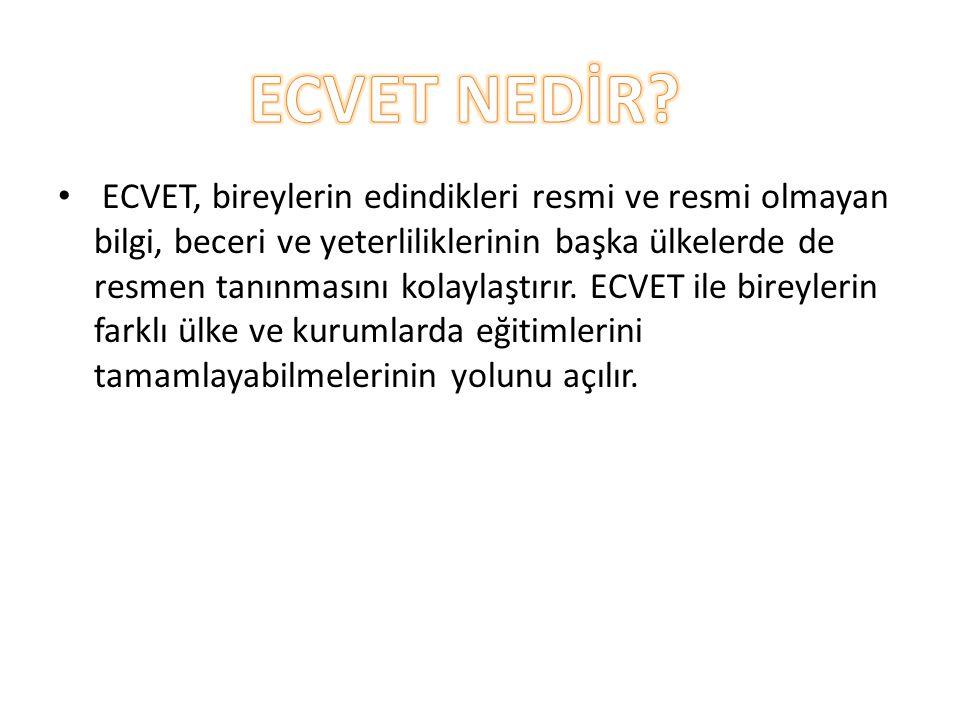 ECVET NEDİR