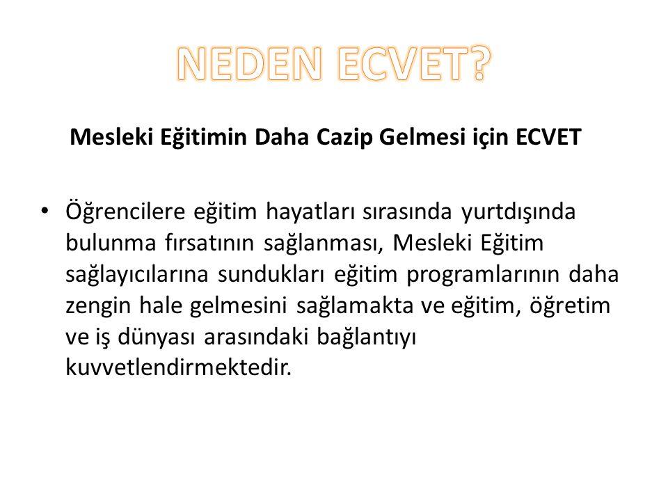 NEDEN ECVET Mesleki Eğitimin Daha Cazip Gelmesi için ECVET