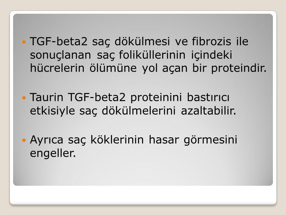 TGF-beta2 saç dökülmesi ve fibrozis ile sonuçlanan saç foliküllerinin içindeki hücrelerin ölümüne yol açan bir proteindir.
