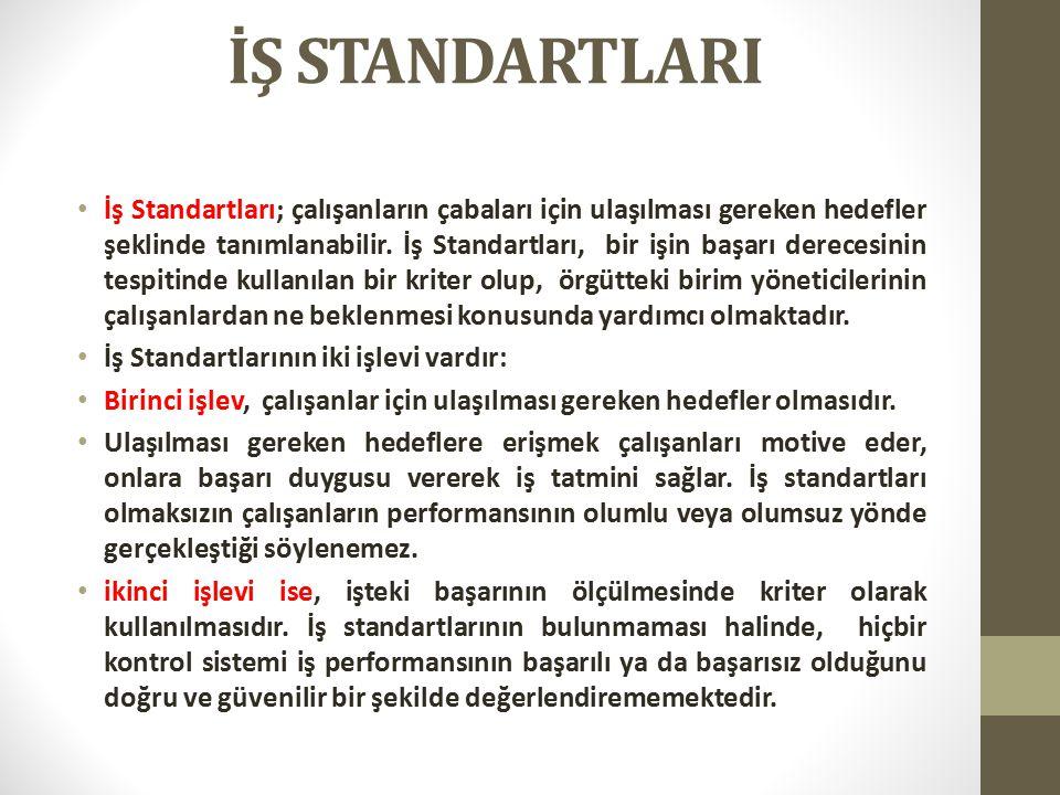 İŞ STANDARTLARI