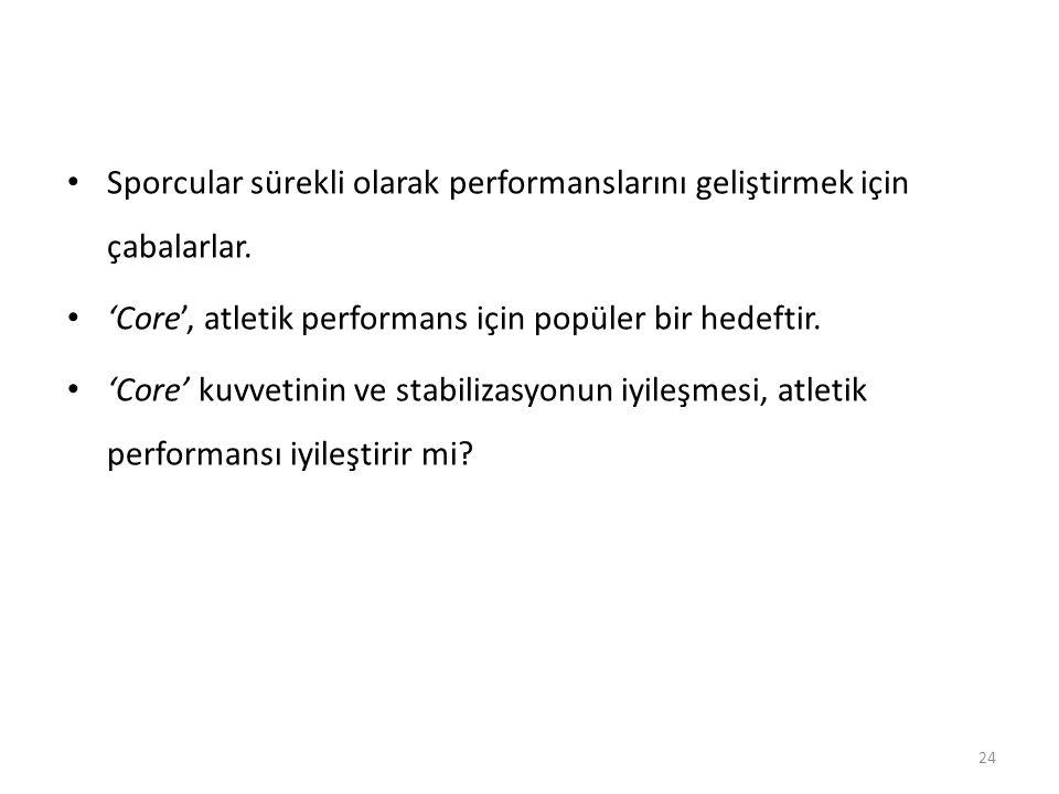 Sporcular sürekli olarak performanslarını geliştirmek için çabalarlar.
