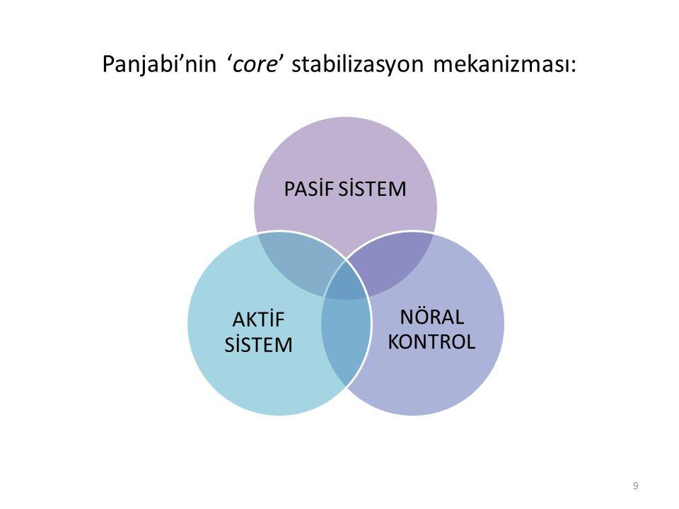 Panjabi'nin 'core' stabilizasyon mekanizması: