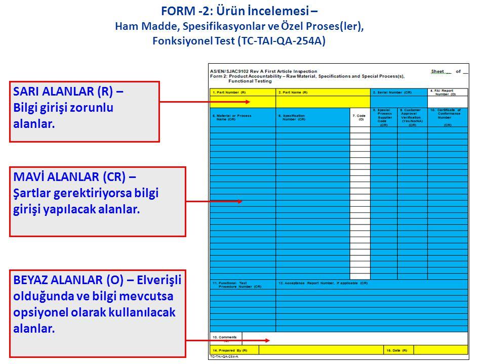 FORM -2: Ürün İncelemesi –
