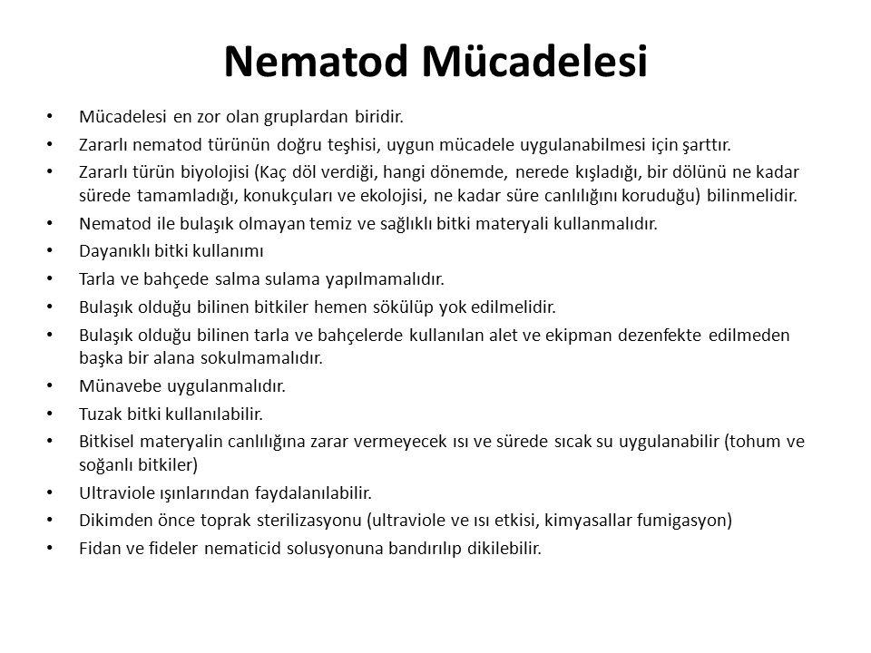 Nematod Mücadelesi Mücadelesi en zor olan gruplardan biridir.