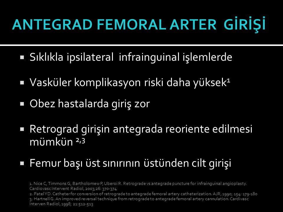 ANTEGRAD FEMORAL ARTER GİRİŞİ