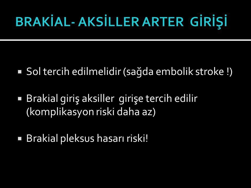 BRAKİAL- AKSİLLER ARTER GİRİŞİ