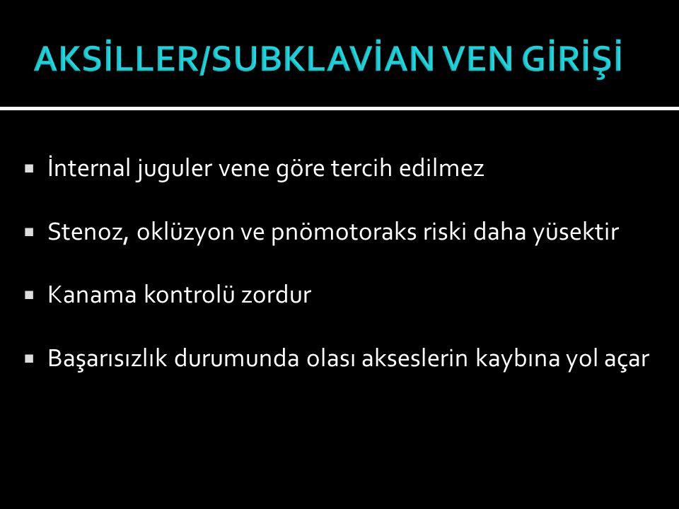 AKSİLLER/SUBKLAVİAN VEN GİRİŞİ