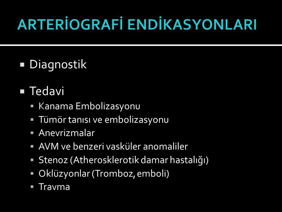 ARTERİOGRAFİ ENDİKASYONLARI