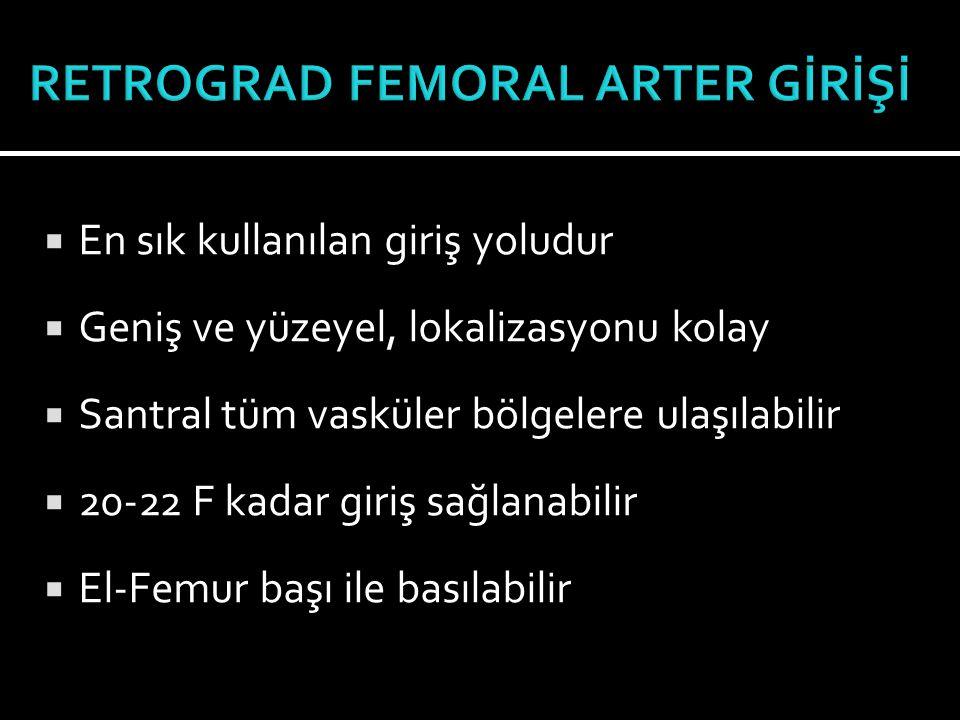RETROGRAD FEMORAL ARTER GİRİŞİ