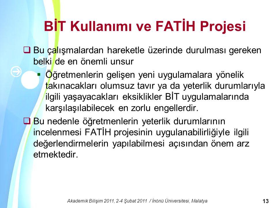 BİT Kullanımı ve FATİH Projesi