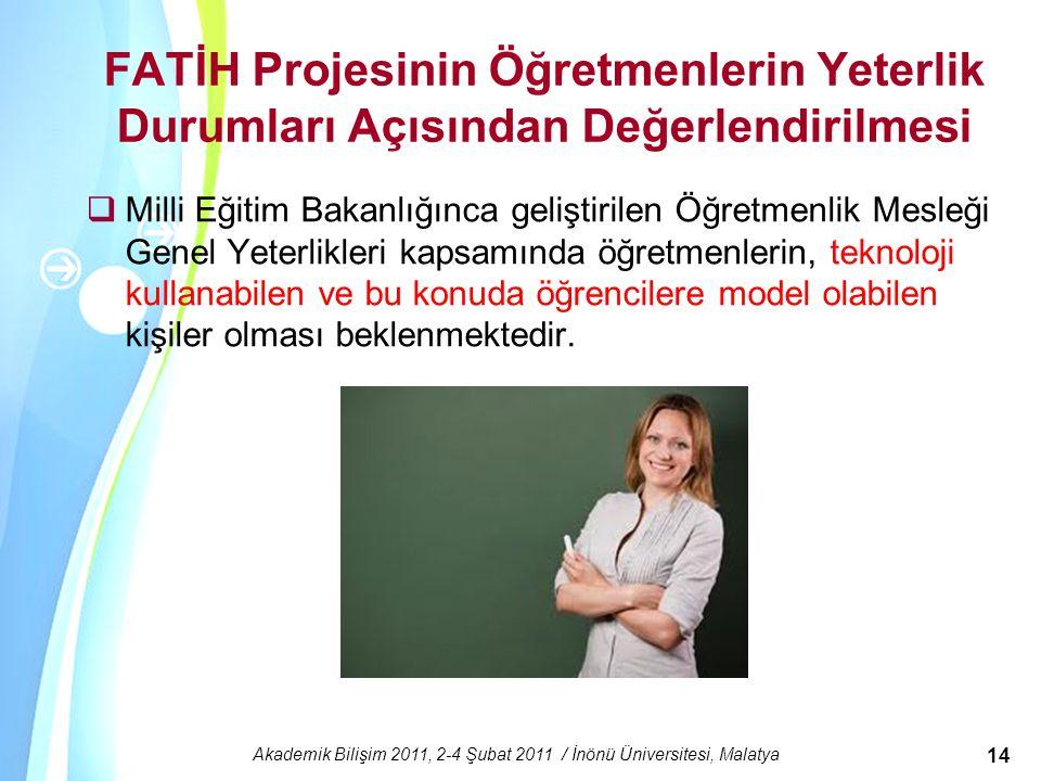 Akademik Bilişim 2011, 2-4 Şubat 2011 / İnönü Üniversitesi, Malatya