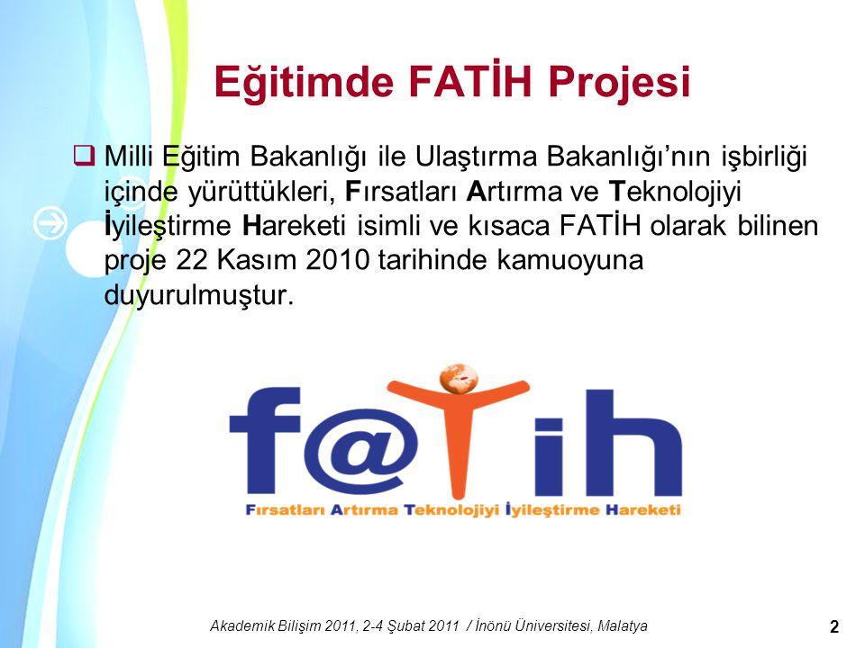 Eğitimde FATİH Projesi