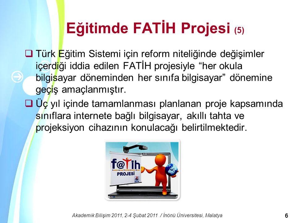 Eğitimde FATİH Projesi (5)