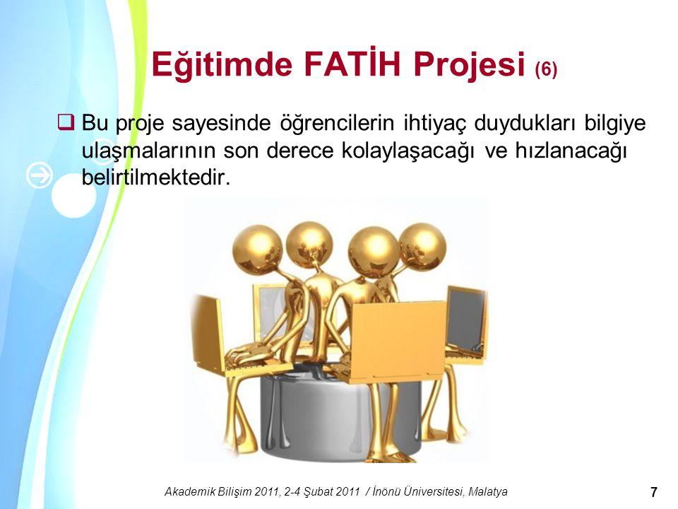 Eğitimde FATİH Projesi (6)