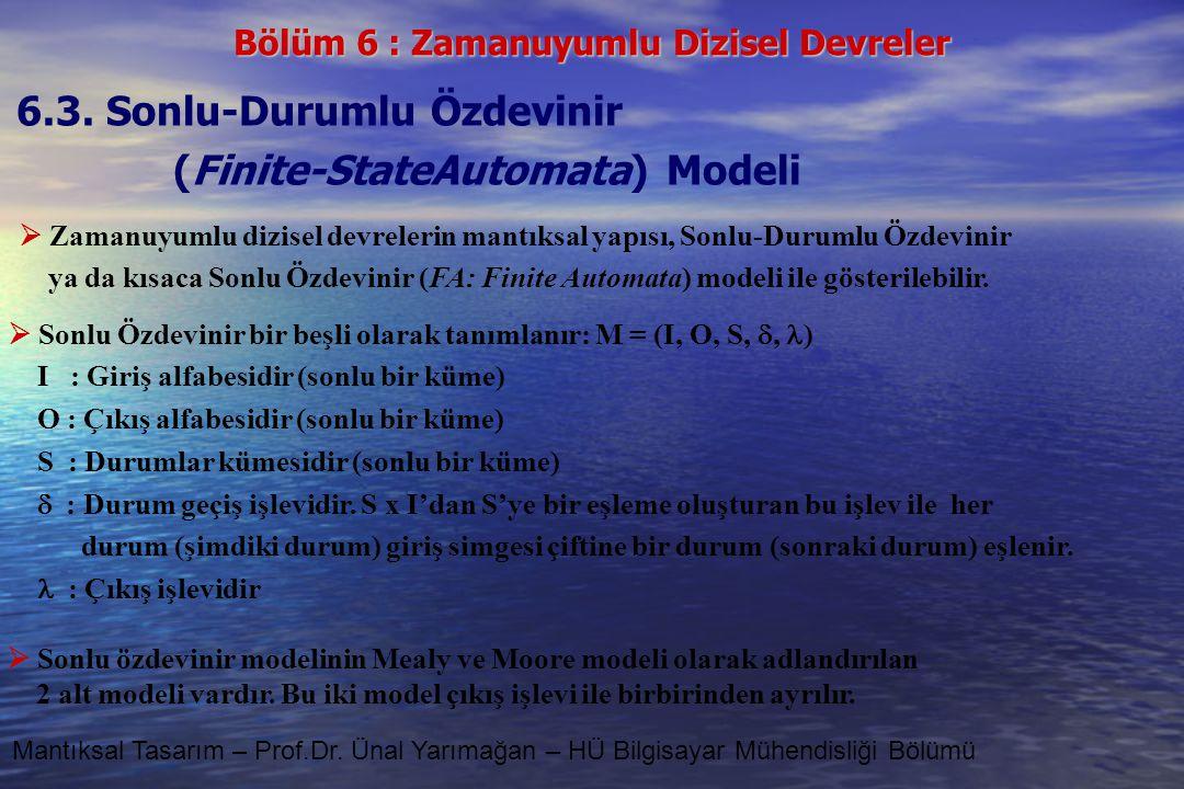 6.3. Sonlu-Durumlu Özdevinir (Finite-StateAutomata) Modeli