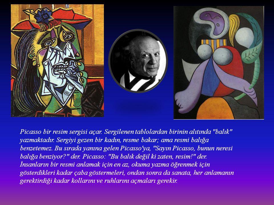 Picasso bir resim sergisi açar