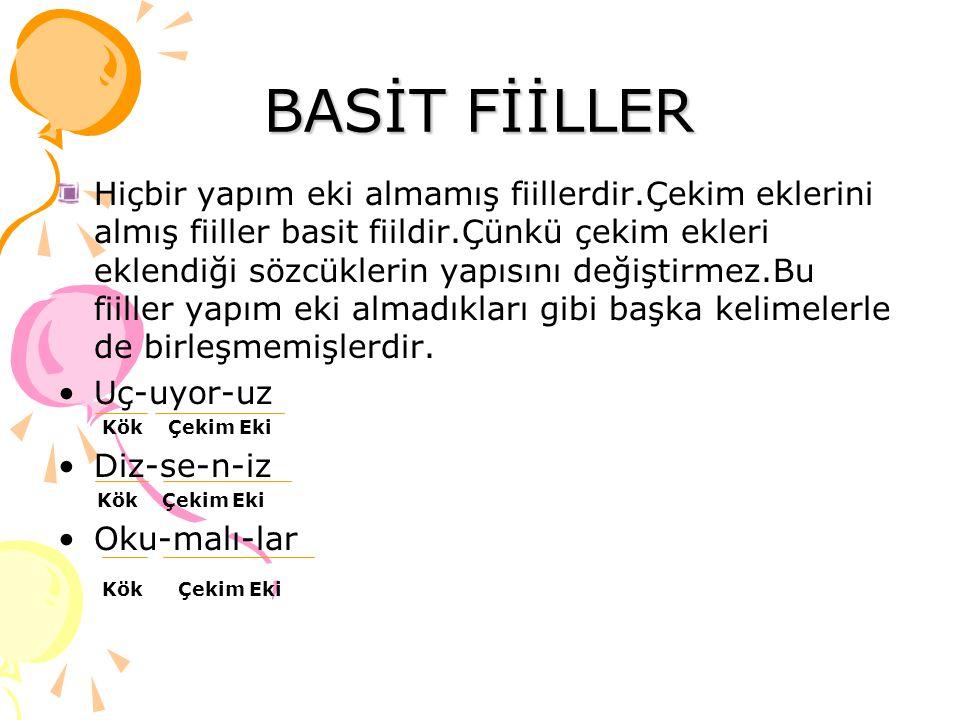 BASİT FİİLLER