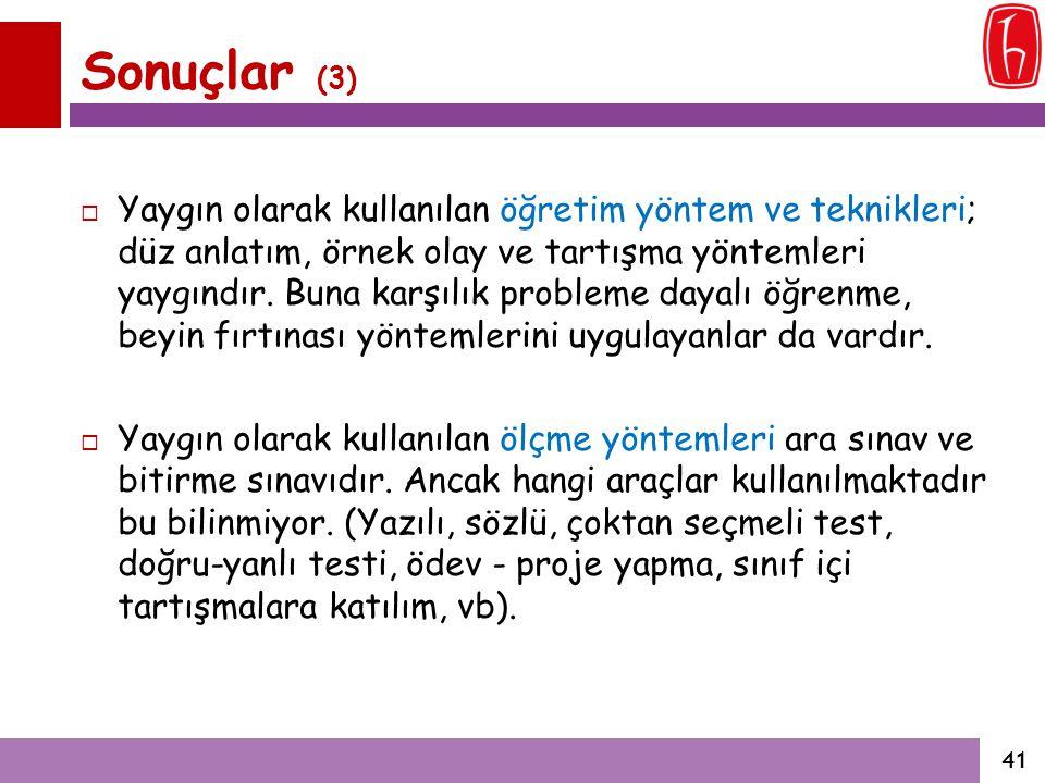 Sonuçlar (3)