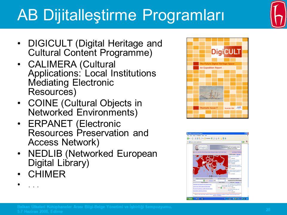 AB Dijitalleştirme Programları
