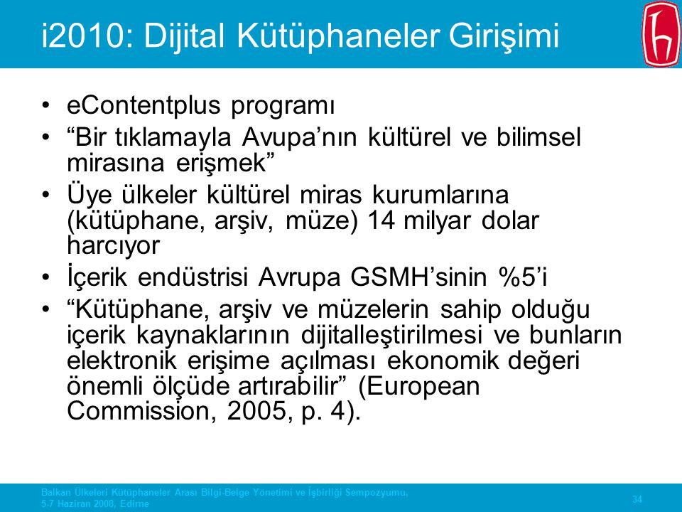 i2010: Dijital Kütüphaneler Girişimi