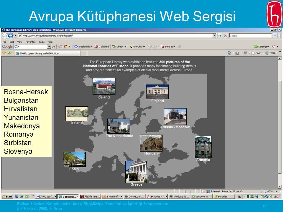 Avrupa Kütüphanesi Web Sergisi