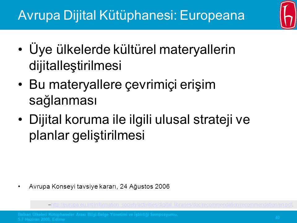 Avrupa Dijital Kütüphanesi: Europeana