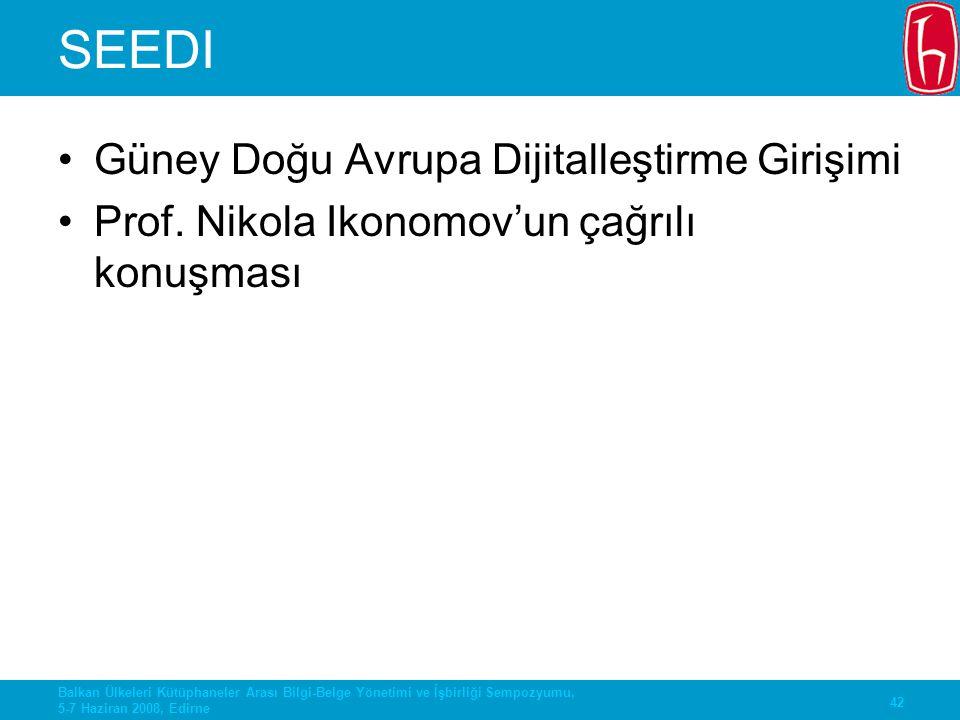 SEEDI Güney Doğu Avrupa Dijitalleştirme Girişimi