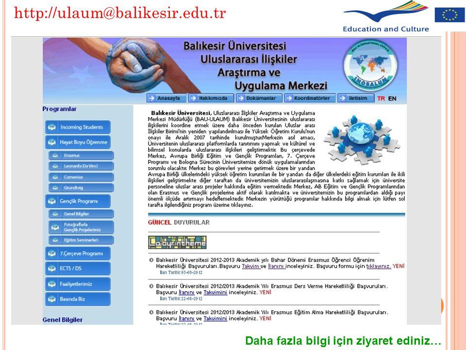 http://ulaum@balikesir.edu.tr Daha fazla bilgi için ziyaret ediniz…
