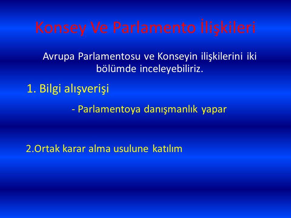 Konsey Ve Parlamento İlişkileri