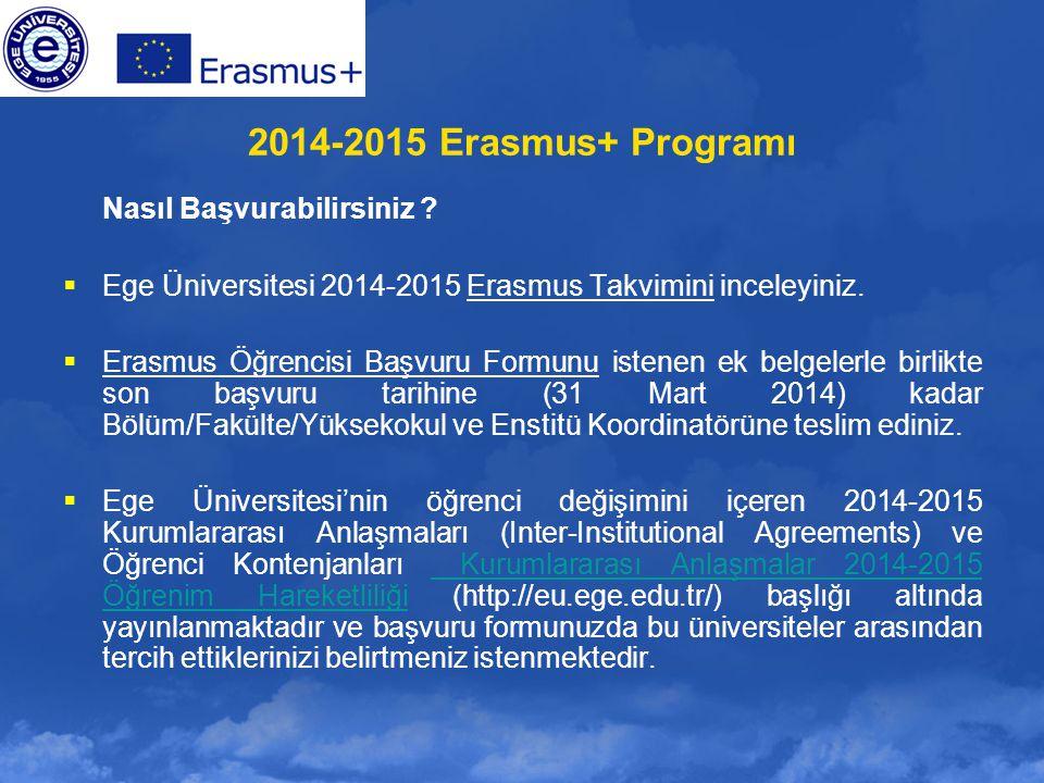 2014-2015 Erasmus+ Programı Nasıl Başvurabilirsiniz